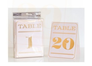 Table Tent Cards Art Deco