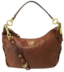 Coach Madison Leather Hailey Satchel in Walnut
