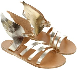 Ancient Greek Sandals Gold Hardware Strapp Ikaria Gold, Beige Sandals