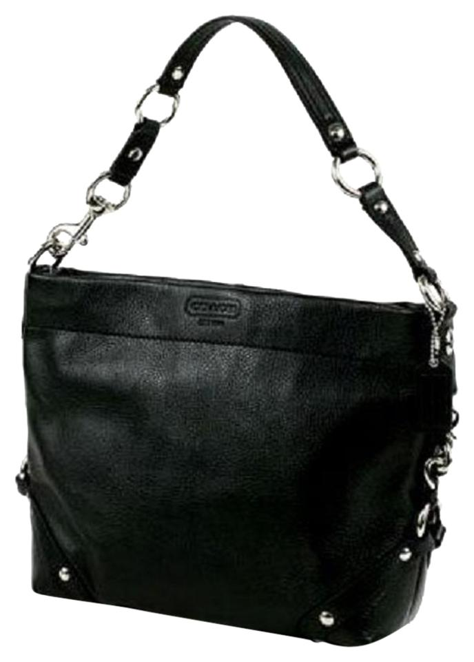 5e7c75ecb5fc Coach Carly  15251 Black Leather Shoulder Bag - Tradesy