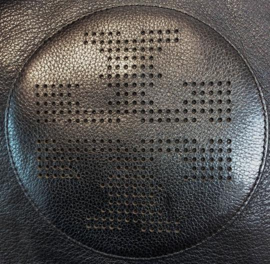 Tory Burch Kipp Pebbled Leather Perforated Tote in Black Image 9