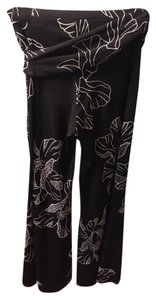 Cache Beaded Wide Leg Pants Black/white