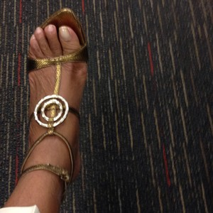 Sergio Rossi Dark gold Sandals