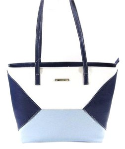 Nine West Tote in multi blue/white