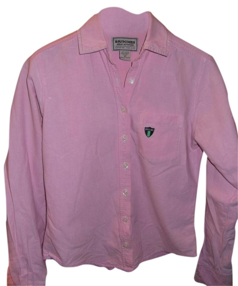 Britches Great Outdoors On Down Long Sleeve Top Pink Image 0