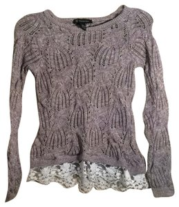 INC International Concepts Lace Trim Knit Sweater
