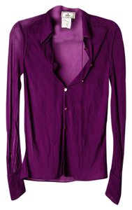 Fendi Button Down Shirt Violet
