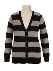 Maurices Longsleeve Striped Cardigan