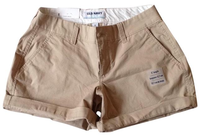 Old Navy Cuffed Shorts Beige Image 0