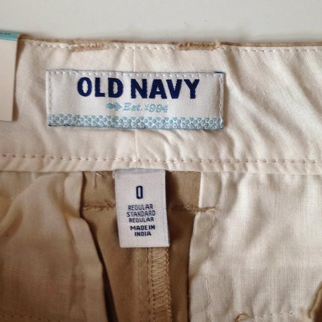 Old Navy Cuffed Shorts Beige Image 3