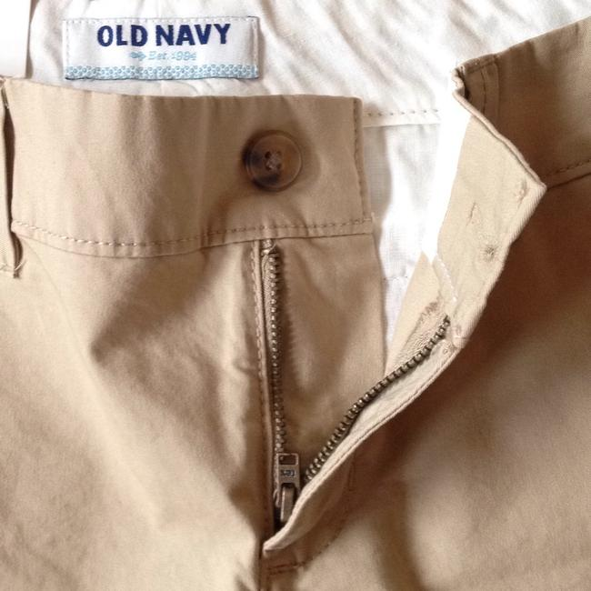 Old Navy Cuffed Shorts Beige Image 4