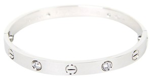 Cartier Cartier White Gold Love Bracelet 4 Diamond Size16