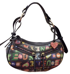 Dooney & Bourke Leather Signature Shoulder Hobo Bag