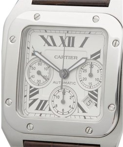 Cartier Men's XL Santos 100 Chronograph W20090X8 Stainless Steel Watch