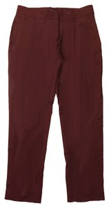 Theory Boyfriend Ankle Capri/Cropped Pants Plum