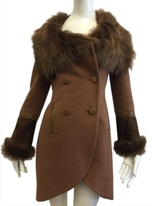 Mackage Beige Fall Fur Coat