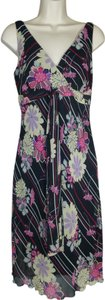 Bisou Bisou short dress Multi-color Michele Bohbot Floral Summer Size 6 on Tradesy