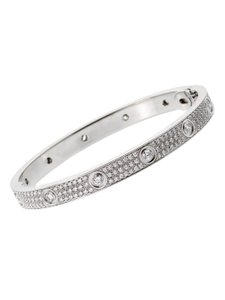 Cartier Cartier White Gold Love Bracelet Pave Diamond Size16