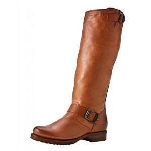 Frye Leather Riding Moto Slouch COGNAC Boots