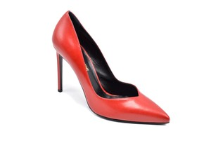 Saint Laurent Stiletto Paris Hot Pointed Toe Red Pumps