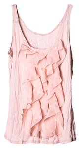 New York & Company & Co Ruffles Top Blush Pink