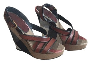 Burberry Tan Wedges