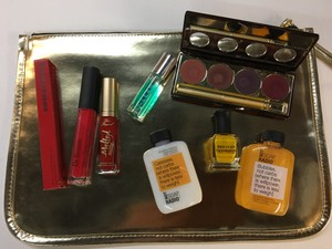Too Faced Gold Zip Ipad Case with Impulse Brand Beauty Products