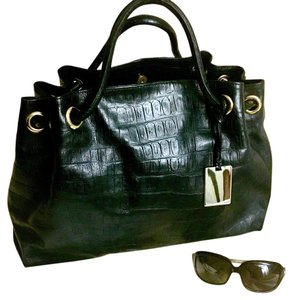 Furla Tote in Black And Gold