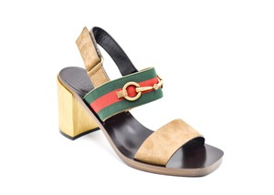 Gucci Vintage Suede Leather brown Sandals