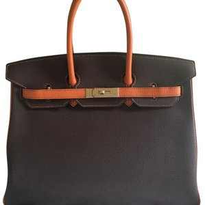 Hermès Satchel in Orangr/Chocolate