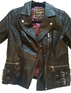 New Look Leather Leather Jacket