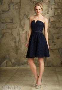 Mori Lee Navy Blue 31067 Dress