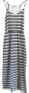Navy blue and cream striped Maxi Dress by Splendid