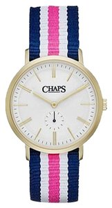 Chaps Chaps Women's Dunham Striped Canvas Two-Hand Watch CHP5005