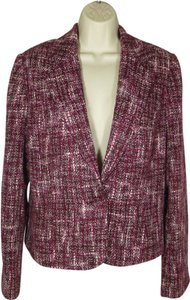 Mossimo Supply Co. Burgundy Pink Woven Burgundy/Pink Blazer