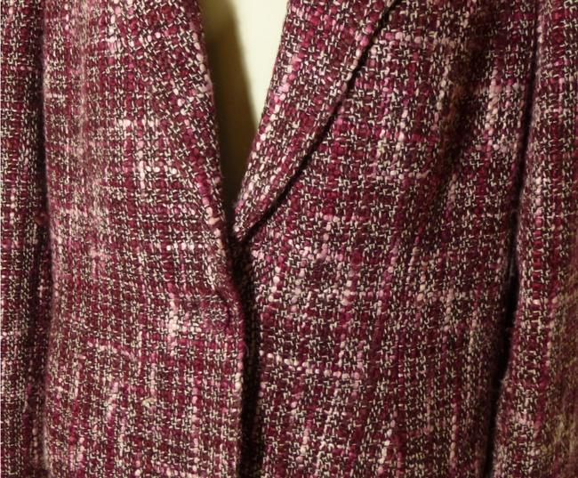 Mossimo Supply Co. Woven Size Large Burgundy/Pink Blazer