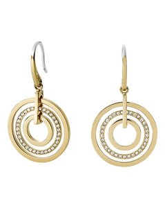 Michael Kors BRAND NEW! Michael Kors GOLD Pave Circle Drop Earrings