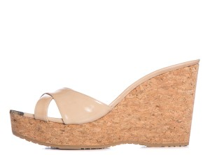 Jimmy Choo Tan Cork Wedges