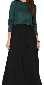 Pins and Needles Maxi Skirt Black