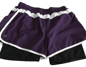 Athleta Purple, white, black Shorts