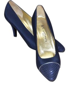 St. John Navy Blue Pumps