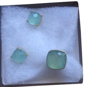 Chalcedony Ring and Earrings