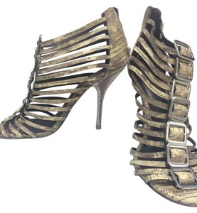 Tory Burch Cage Sandal Nude Snakeskin Pumps