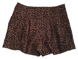 Ann Taylor LOFT Mini/Short Shorts Brown and Black