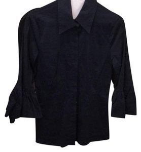 BCBGMAXAZRIA Button Down Shirt navy blue