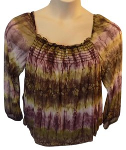 Cha Cha Vente Cotton Casual 3/4 Sleeve Animal Print Stretchy Tunic