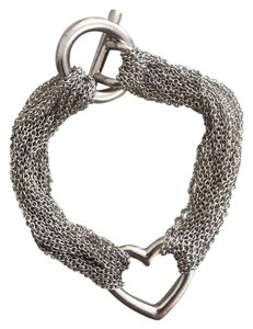 Tiffany & Co. Tiffany & Co. Multi Strand Heart Mesh bracelet, Hallmark 925