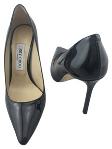 Jimmy Choo Romy Pointy Toe Patent Black Pumps