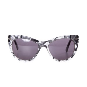 Andy Wolf Andy Wolf Black Lace and Lucite Sunglasses