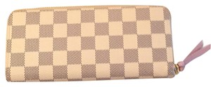 Louis Vuitton Promo Today! $50 Off With Mid50! New Rose Ballerine Damier Azur Clemence Wallet